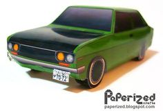 PAPERMAU: Easy-To-Build 1972`s Datsun Bluebird 510 Paper Model - by Paperized