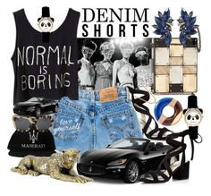"""""""Sometimes """"Fast & Furious"""" - Always """"Fun & Fabulous"""""""" by sharee64 ❤ liked on Polyvore featuring Kenneth Cole, Maserati, Sondra Roberts, 3.1 Phillip Lim, jeanshorts, denimshorts and cutoffs"""