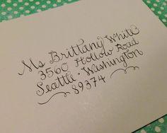 Custom Wedding Calligraphy  White by TresBelleLetters on Etsy, $1.50