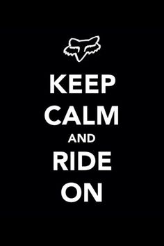 Keep calm and ride on #motorcross