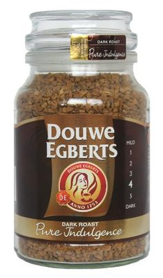 Traditional Douwe Egberts Pure Indulgence Instant Coffee in Jar, Dark Roast, 7.05-Ounce, 200 gram, ,