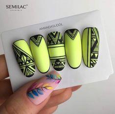Get Nails, Love Nails, Pretty Nails, Aztec Nails, Chevron Nails, Nautical Nails, Geometric Nail Art, Nail Effects, Nail Manicure