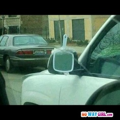 ghetto haha! I wouldn't actually do this, but just in case you need a laugh ..