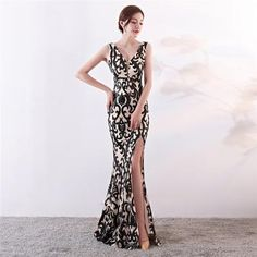 Sequined V-neck mermaid Evening Dresses( 4 Colors).**Rush order please contact us ** Processing time business days after payment . Mermaid Evening Dresses, Evening Gowns, Party Gowns, Party Dress, Prom Dresses Long With Sleeves, Formal Dresses, Lace Sleeves, Sequin Dress, Processing Time