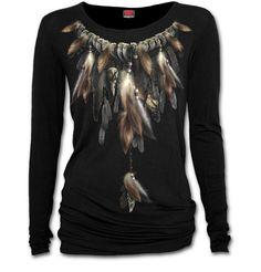 Dámské tričko Péřový náhrdelník