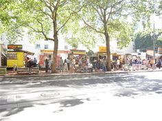 We love Portland, OR and a foodie favorite is the Food Carts and Trucks as well as the Farmer's Markets right at the University Campus! It is a foodie mecca! This pic is SW 5th Ave & Stark St.