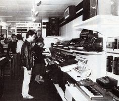 Capital Keyboard Centre, London 1982.    That guy in the pic is looking at one of my all time favs, the very underated Korg Lamda!     The microKORG Synthesizer/Vocoder brings state-of-the-art analog modeling and multi-band vocoding to a compact, portable keyboard! With 37 keys and 128 user-rewritable programs, the microKORG Synthesizer/Vocoder is perfect for the performer, producer