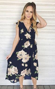 41f3d5294ce Cullen-Navy floral dress bump friendly and nursing friendly Navy Floral  Dress