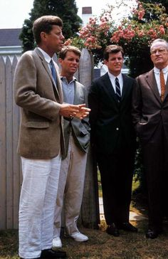 Another perspective of the quintessential Kennedy brothers picture.