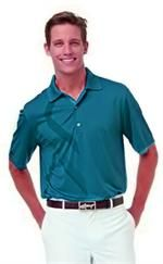 Greg Norman | Mens Golf Shirts | Tonal Jacquard Polo