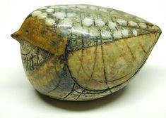 Vintage Lisa Larson stoneware pottery bird figure Gustavsberg Sweden