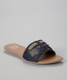 Look at this #zulilyfind! Blue Jean Strap Sandal by BÉTSY #zulilyfinds