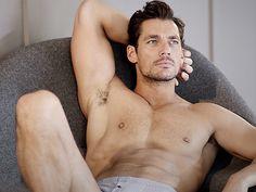 Man wearing two tone underwear