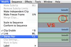 Unlinking stereo pairs in FCE