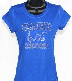 Band Mom Musical Trio Rhinestone Bling TShirt by TheTeeShirtMakers, $19.99
