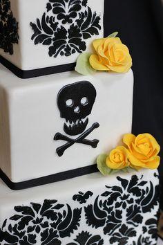 Elegant Skull & Crossbone Cake