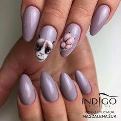 Grumpy Cat Sin City Gel Brush by Indigo Educator Magdalena Żuk, Wrocław #nails #nail #indigo #indigonails #pink #grumpy #cat #lazy