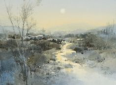 Chien Chung-Wei    【Poem of the landscape / 風景畫的詩意】, 27 x 37 cm .  watercolor by Chien Chung Wei .