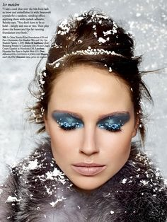 'Snow Queen' by Rui Faria for Harrods Magazine Christmas Beauty Special 2013: Twinkle, golden and glam up your life!