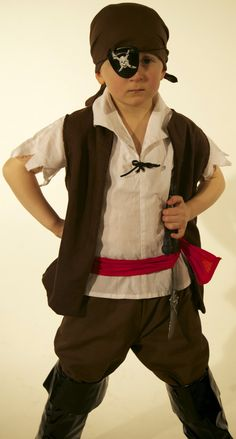 Boys Pirate costume handmade in all sizes by Kenickys on Etsy, £29.99