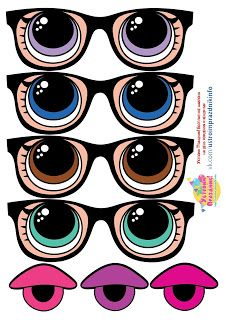 - Oh My Fiesta! in english Printable Masks, Free Printables, Doll Eyes, Doll Face, Lol Doll Cake, Face Template, Eye Stickers, Clay Pot Crafts, Doll Party