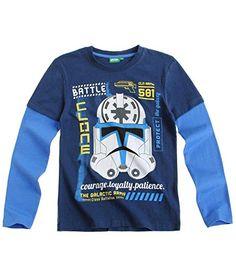 Star Wars-The Clone Wars Camiseta mangas largas - Jean - 116 #camiseta #friki #moda #regalo