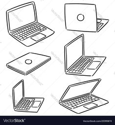 Illustration about Vector set of laptop hand drawn cartoon, doodle illustration. Illustration of electronic, collection, doodle - 144515879 Kawaii Drawings, Doodle Drawings, Cute Drawings, Drawing Anime Clothes, Manga Clothes, Pony Drawing, Drawing Base, Laptop Drawing, Bedroom Drawing