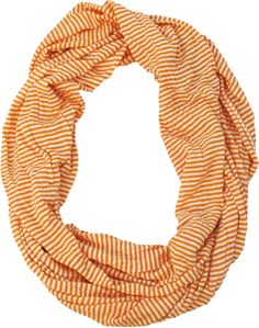 $14 lightweight summer scarf. Infinity scarf. Orange scarf.