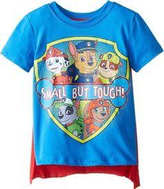 Nickelodeon Boys' Paw Patrol Small But Tough Cape T-Shirt