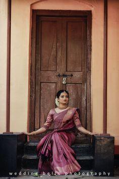 Kerala Wedding Saree, Bridal Sarees South Indian, Kerala Bride, Indian Wedding Wear, Wedding Silk Saree, Christian Wedding Dress, Christian Bridal Saree, Christian Bride, Christian Weddings