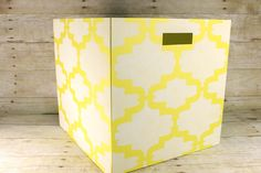 Honeycomb DIY Storage Box #StencilYourHome