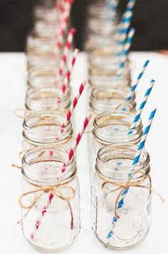 Nothing says festive like red, white and blue drinking straws.