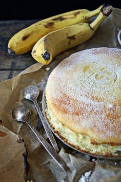 Banana Cheesecake, Good Food, Yummy Food, Baked Strawberries, Sugar Cake, Sweets Cake, Healthy Cake, Sweet Recipes, Sweet Tooth
