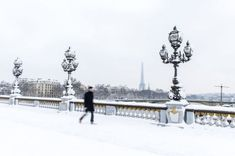 Iconic landmarks such as the Notre Dame and the Eiffel Tower are covered in snow after seven inches fell over the north of France, including the capital Paris, on Wednesday. Snow Pictures, Paris Pictures, Paris Snow, Pont Alexandre Iii, Snowy Trees, Palace Of Versailles, Travel News, Covered Bridges, Countryside