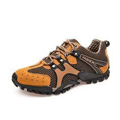 Fashion Men Mesh Hiking Slip Resistant Metal Buckle Outdoor Sport Sneakers - NewChic Mobile.