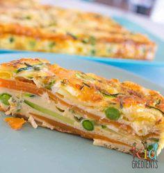 Sweet potato and zucchini healthy strata bake - Kidgredients