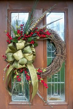 Winter Grapevine Wreath by JenniferzWreaths on Etsy, $78.00