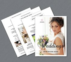 SALE  4 Page Wedding Photography Pricing Guide by TemplateStock