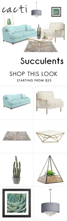 """Cacti and Succulents"" by lillithedanosaur ❤ liked on Polyvore featuring interior, interiors, interior design, home, home decor, interior decorating, Kate Spade, Axel, Nuevo and Dot & Bo"