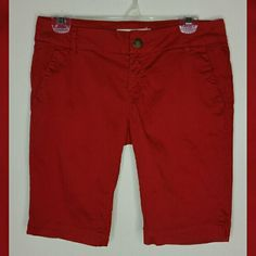 RED BERMUDA SHORTS Size 27. Red. Khaki. A little bit of fading from washing  Great condition. Life in Progress  Shorts Bermudas