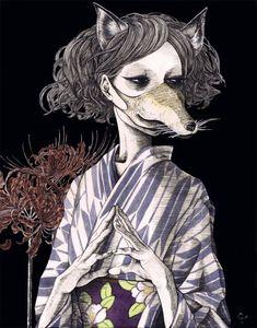 Artwork by Japanese illustrator Hiroko Shiina