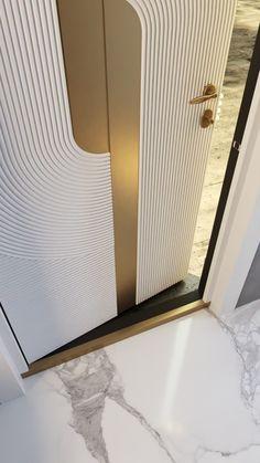 Unique Front Doors, Modern Entrance Door, Main Entrance Door Design, Front Door Design Wood, Home Entrance Decor, Wooden Door Design, House Main Door Design, Bedroom Door Design, Bedroom Furniture Design