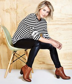 """Black + White + Brown Booties Di - love mixing up the old """"rules"""""""