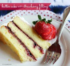 Hi Sugarplum | Butter Cake with Strawberry Filling by hi sugarplum!, via Flickr