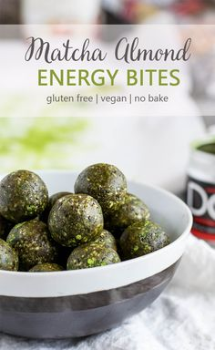 Matcha Almond Energy Bites are here to jazz up your snack time! With just 7 simple ingredients (and a high powered food processor), you can have a healthy and nutritious snack after your next workout, or during a busy day at the office.