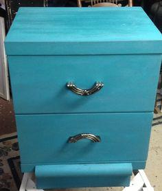 Milk paint finish. Turquoise. $129 Reliks.net