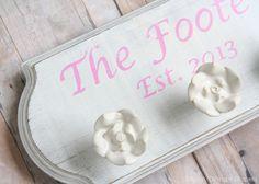 DIY Wedding Gift Idea: Creating a Custom Family Sign by designdininganddiapers.com