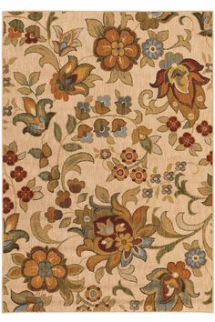 Sphinx by Oriental Weavers Area Rugs: Infinity Rugs: Beige - Transitional Rugs - Area Rugs by Style Floral Area Rugs, Beige Area Rugs, Floral Rug, Floral Flowers, Nylons, Synthetic Rugs, Transitional Area Rugs, Construction, Contemporary Rugs