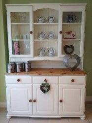Large Solid Pine Hand Painted Shabby Chic Welsh Dresser Farrow Ball New White