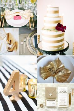 Inspirational Wedding Ideas #222: It's All About The Gold - http://www.diyweddingsmag.com/inspirational-wedding-ideas-222-its-all-about-the-gold/